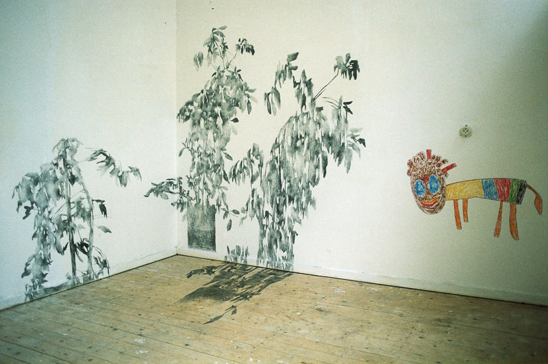 shadow drawing installation at t' Fort, Den Daag, 1998