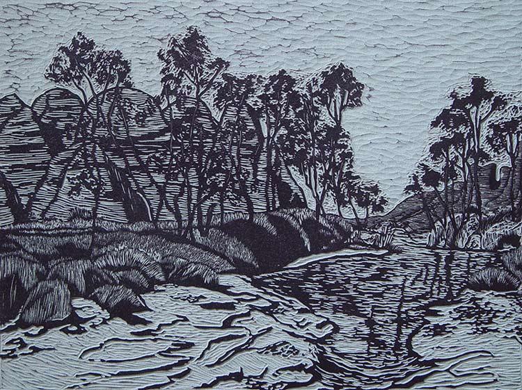 Bungle-bungles, small 3, lino-cut, 53,5x70,5 cm