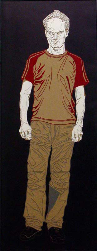 Erik-Jan, Friends, 2005, lino-cut,-180x95 cm.