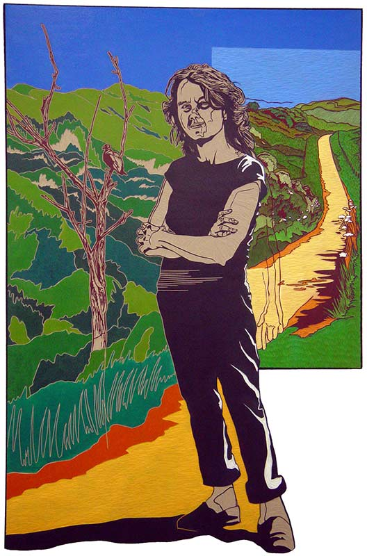 Ingrid, Friends, 2005, lino-cut, 130x170 cm.