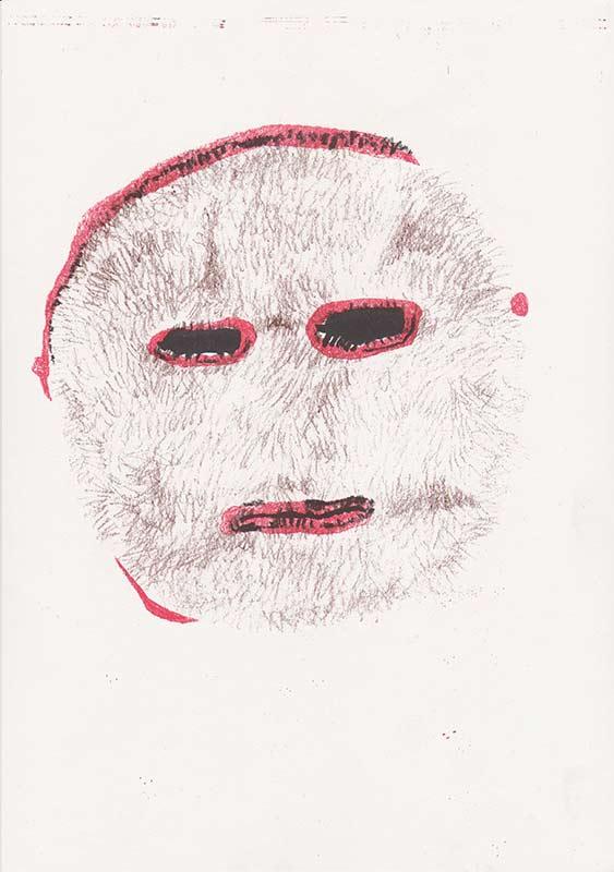 Masks, 11, riso, A4, 2015