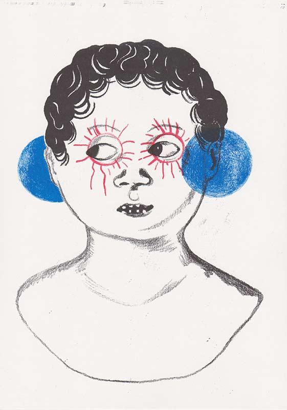 Masks, 13, riso, A4, 2015