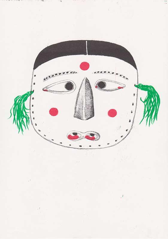 Masks, 15, riso, A4, 2015