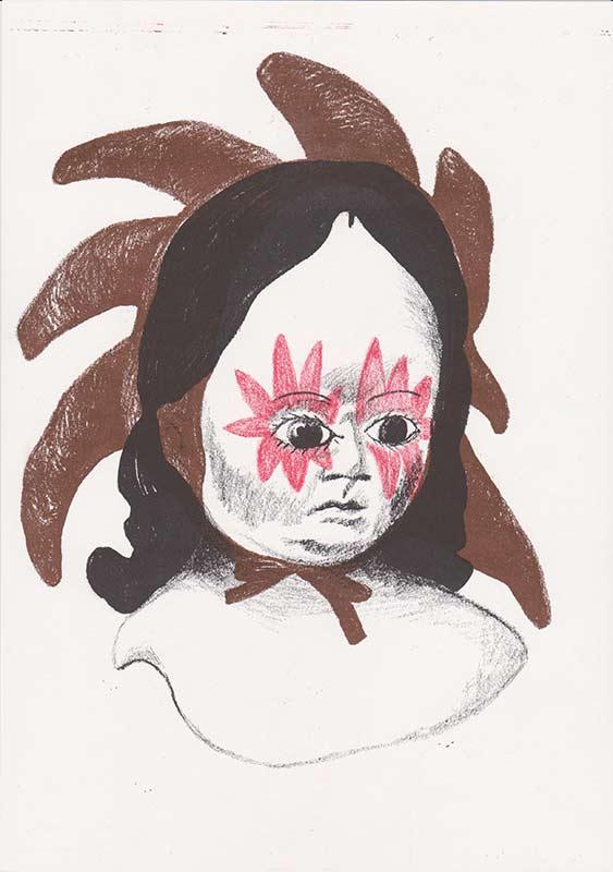 Masks, 17, riso, A4, 2015