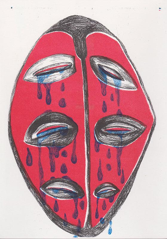 Masks, 3, riso, A4, 2015
