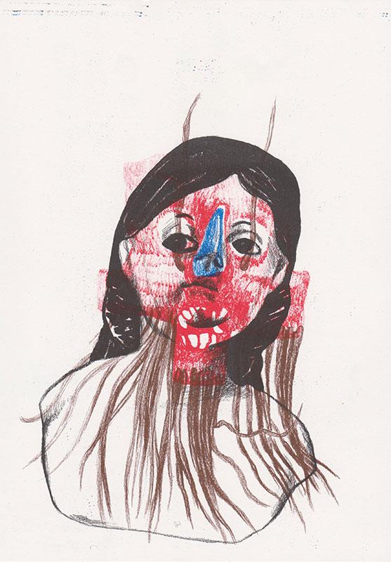 Masks, 7, riso, A4, 2015