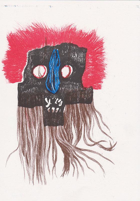 Masks, 8, riso, A4, 2015