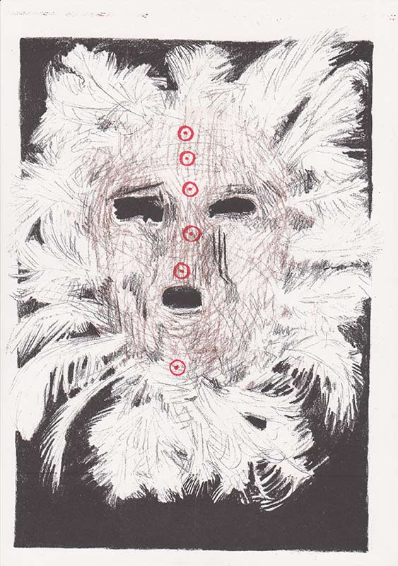 Masks, 9, riso, A4, 2015