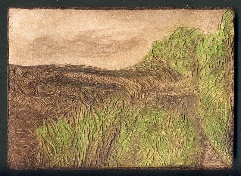 Wales 2, clay print, A5, 2004