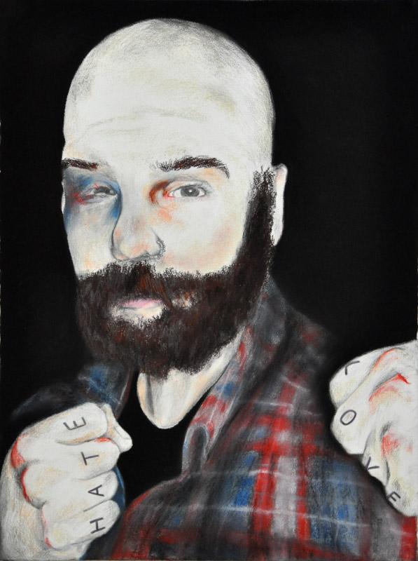 a man called Sue, Halloween 2011, 56x78 cm., pencil + soft pencil drawing
