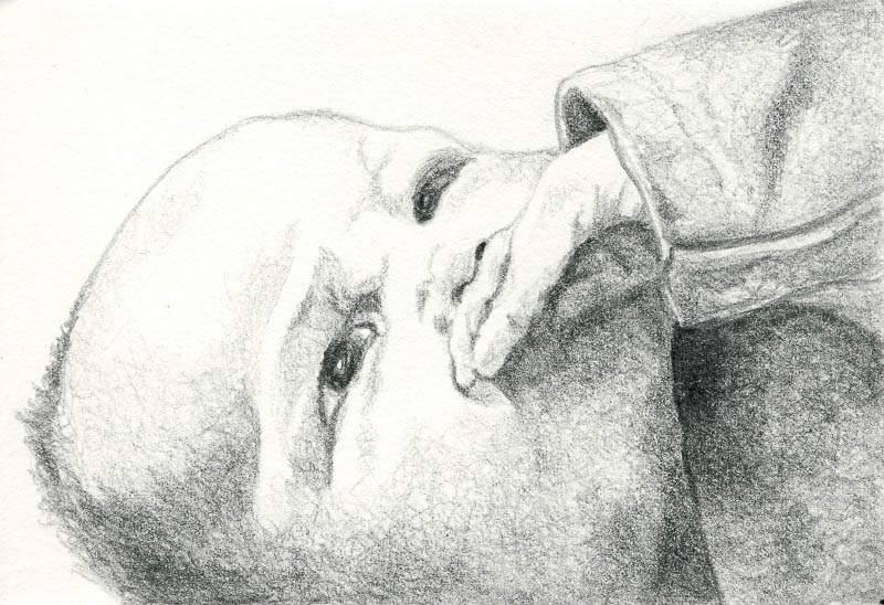 Gwen 1, 2003, pencil drawing, A5
