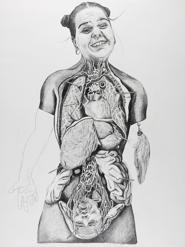 I've got you under my skin, 1999, pencil drawing, 75x100 cm