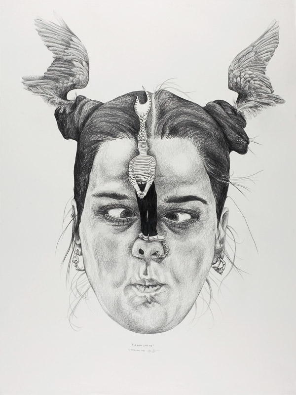 no title, 1999, 75x100 cm., pencil drawing
