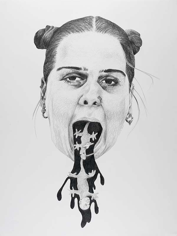 no title, 1999, 75x100 cm., pencil drawing