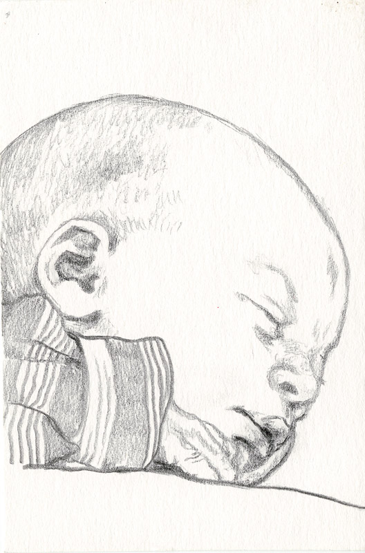 Sam 1, 2001, pencil drawing, A5