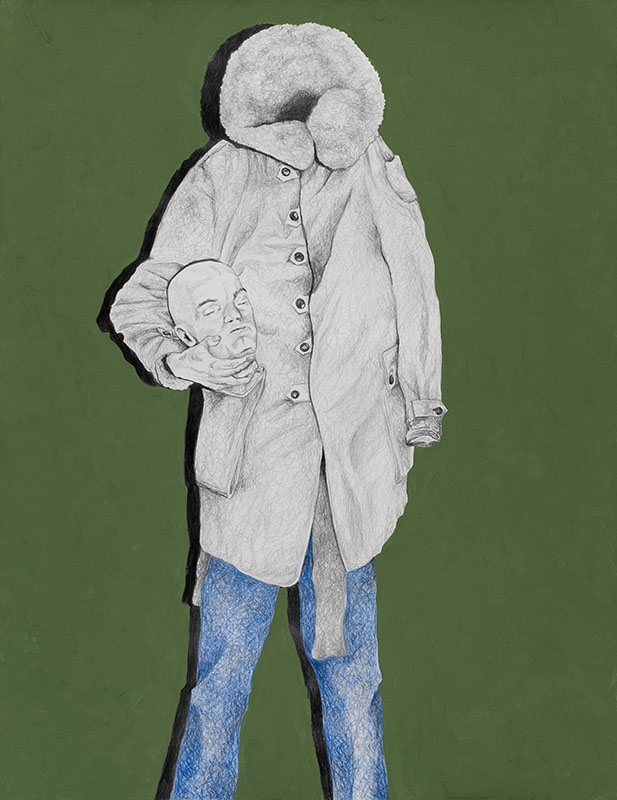 off his head Erik, Party people, Horrofriends, 2004, pencil drawing with acrylic paint, 56x78 cm.