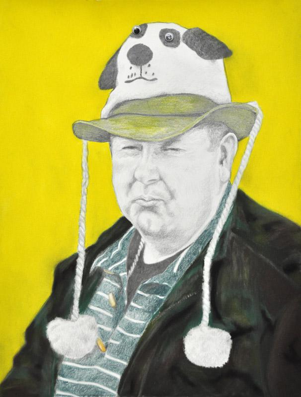 Dad, Party people, fcc, 2012, 56x78 cm., pencil + soft pastel drawing