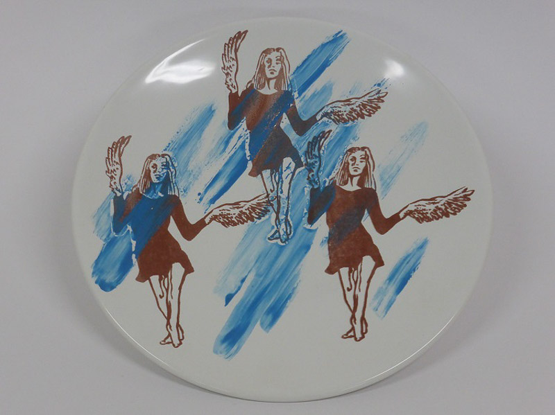 Garden lovers, 2014, plate, silkscreen printed ceramic transfer
