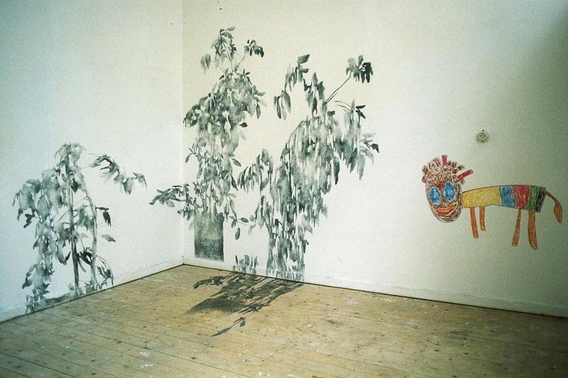 shadow drawing installation at t' Fort, Den Daag, 1998