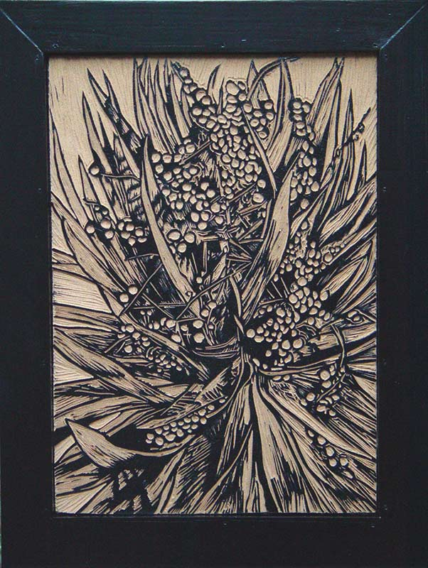 Berries 2, 2003, lino-cut, 26,5x37,5 cm
