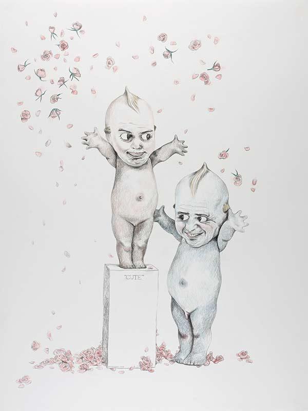 cute, 1999, 75x100 cm., pencil drawing
