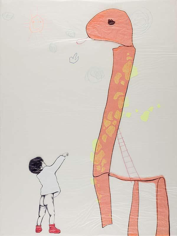 Dikkertje Dap, 1998, 75x100 cm., ballpoint, drawing on kite paper