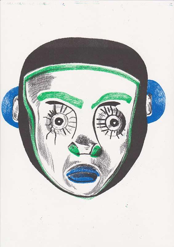 Masks, 14, riso, A4, 2015