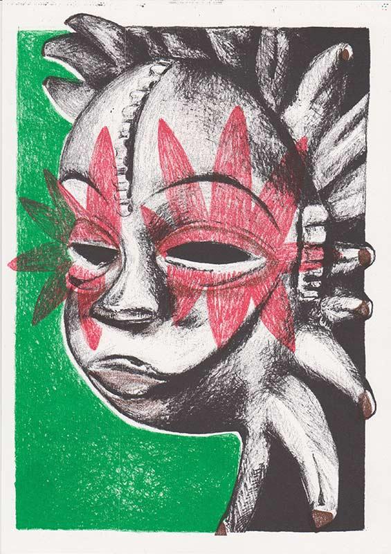 Masks, 18, riso, A4, 2015