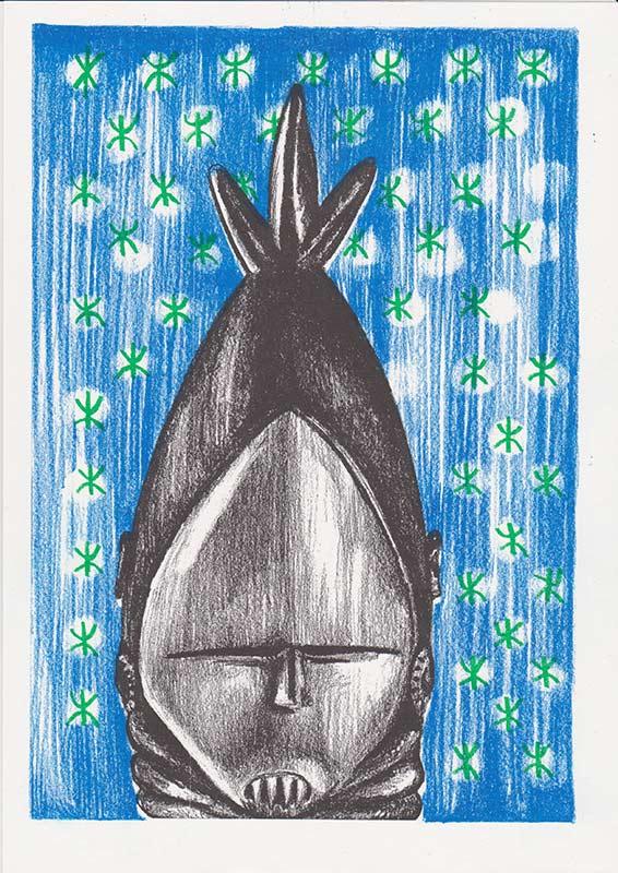 Masks, 2, riso, A4, 2015