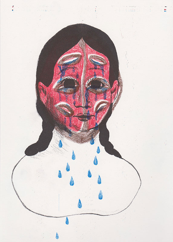 Masks, 4, riso, A4, 2015