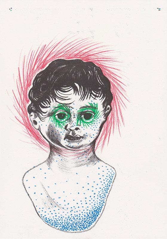 Masks, 5, riso, A4, 2015