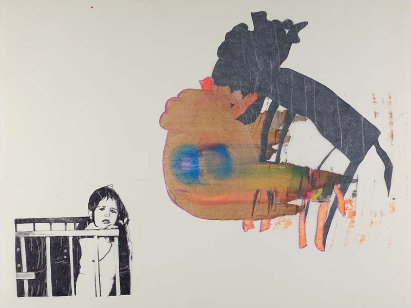 Monster Kareltje, 1998, 75x100 cm., ballpoint, drawing on kite paper