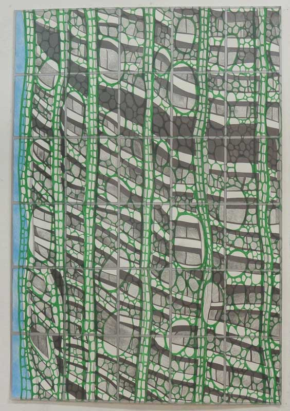 Cityscape ongoing series from 2016 70 x 100 cm. pencil drawings on paper