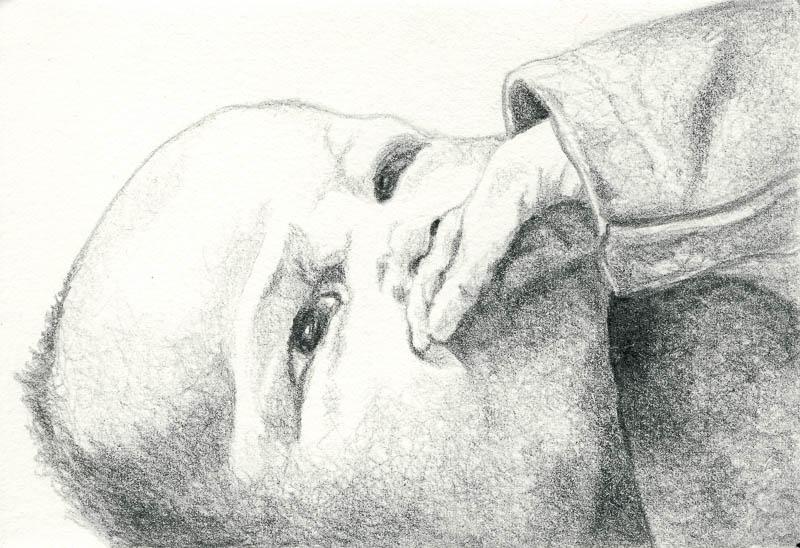 Gwen 1, 2003, pencil drawing, A5
