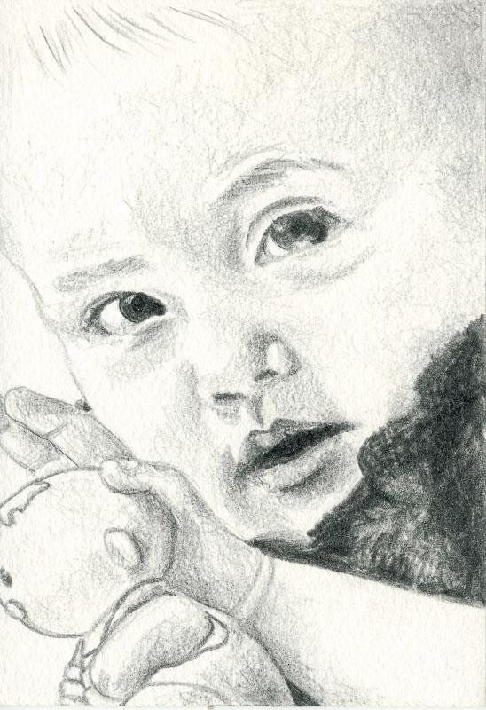 Gwen 22, 2004, pencil drawing, A5