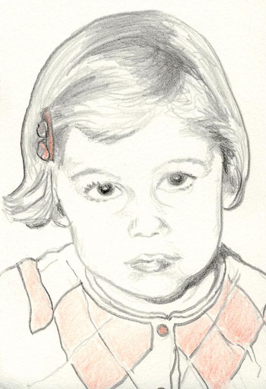 Gwen 61, 2006, pencil drawing, A5