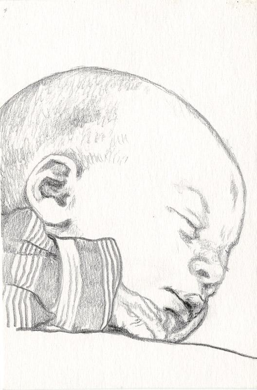 Sam 1, 2001, pencil drawing, A5