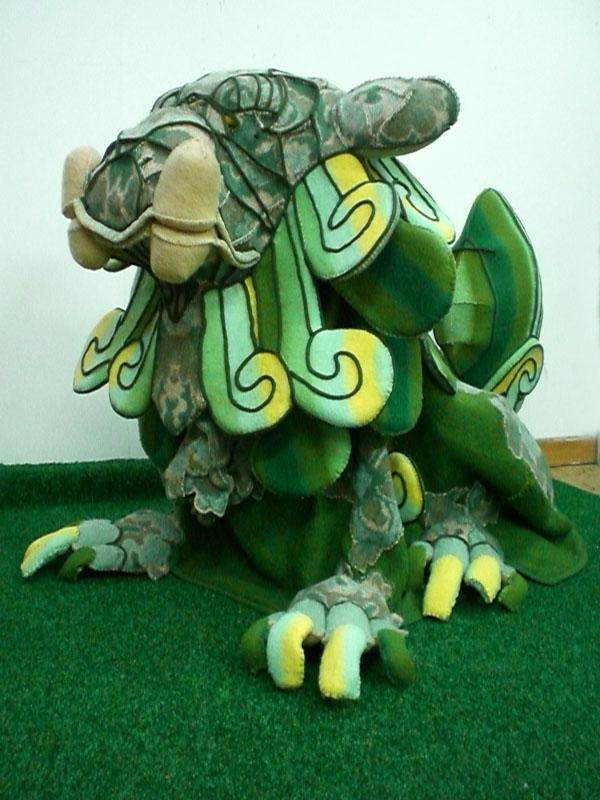 the Guardian, 2009, blanket statue, 150x100x75 cm.