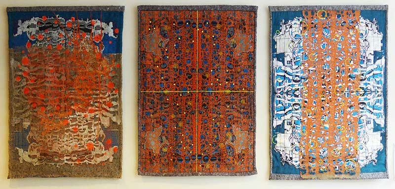 Cityscape tapestries 1, 2, 3 at Design Kwartier, 2017